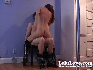 Stripper starts with regular lap dance, ends with handjob cumshot